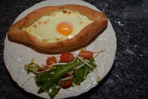 Khachapuri with salat